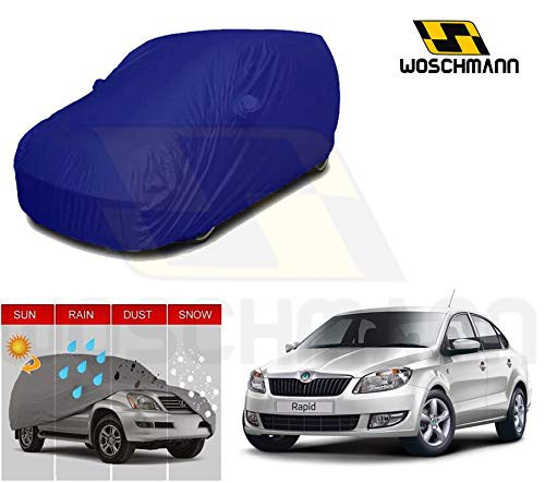 woschmann-blue-weatherproof-car-body-cover-for-outdoor-indoor-protect-from-rain-snow-uv-rays-sun-g5-with-mirror-pocket-compatible-with-skoda-rapid