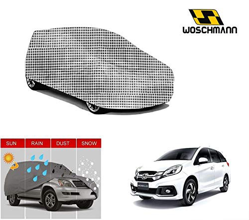 woschmann-checks-weatherproof-car-body-cover-for-outdoor-indoor-protect-from-rain-snow-uv-rays-sun-g9-with-mirror-pocket-compatible-with-honda-mobilio