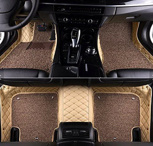 7d-luxury-custom-fitted-car-mats-Beige Color-for-maruti-zen-estilo-1st-gen-type-1