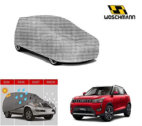 woschmann-checks-weatherproof-car-body-cover-for-outdoor-indoor-protect-from-rain-snow-uv-rays-sun-g9-with-mirror-pocket-compatible-with-mahindra-xuv300