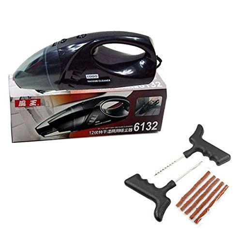 coido-combo-of-6132-car-vacuum-cleaner-and-tubeless-tyre-puncture-kit