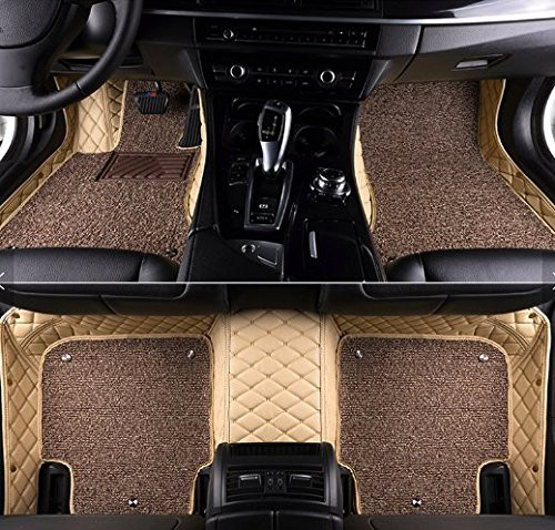 7d-luxury-custom-fitted-car-mats-Beige Color-for-honda-jazz-1st-gen-facelift-type-2