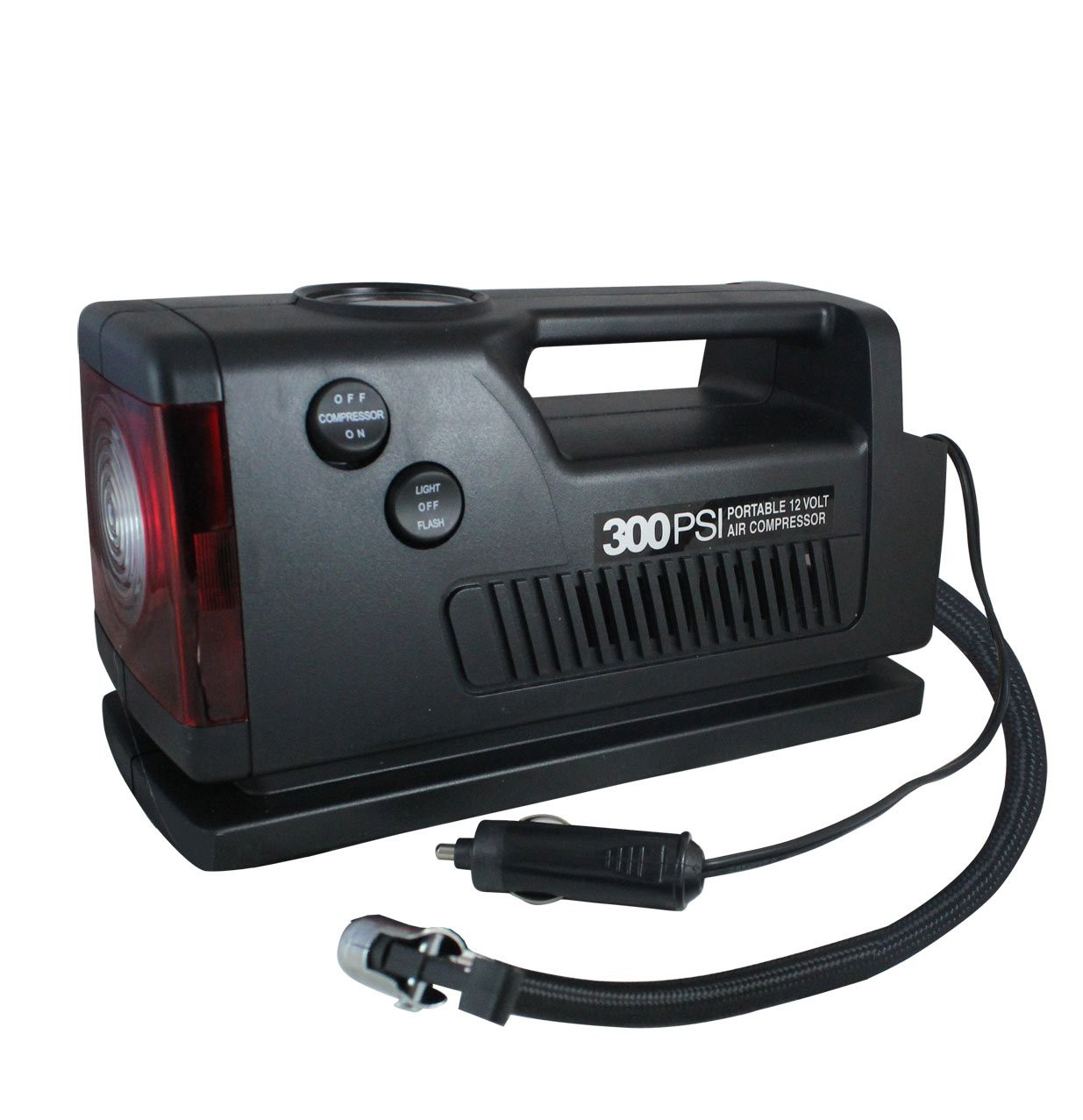 coido-3326-car-tyre-inflator-with-torch-emergency-flasher-and-300-psi-gauge