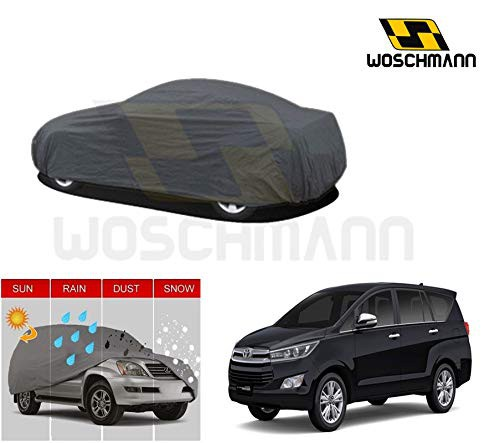 woschmann-grey-weatherproof-car-body-cover-for-outdoor-indoor-protect-from-rain-snow-uv-rays-sun-g7-with-mirror-pocket-compatible-with-toyota-innova-crysta