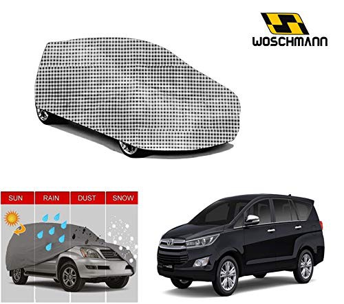 woschmann-checks-weatherproof-car-body-cover-for-outdoor-indoor-protect-from-rain-snow-uv-rays-sun-g7-with-mirror-pocket-compatible-with-toyota-innova-crysta