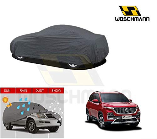 woschmann-grey-weatherproof-car-body-cover-for-outdoor-indoor-protect-from-rain-snow-uv-rays-sun-g9-with-mirror-pocket-compatible-with-mg-hector