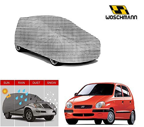 woschmann-checks-weatherproof-car-body-cover-for-outdoor-indoor-protect-from-rain-snow-uv-rays-sun-g2-with-mirror-pocket-compatible-with-hyundai-new-santro