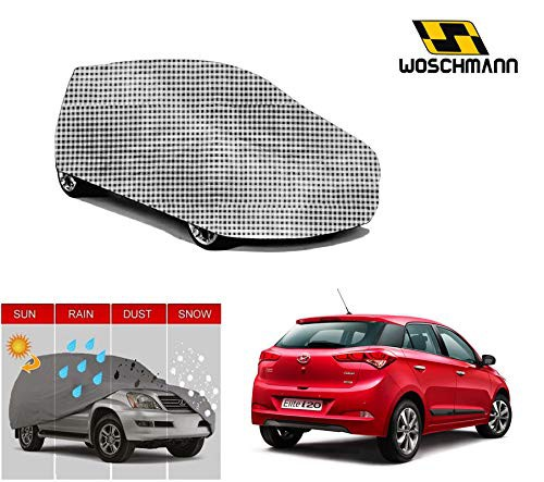 woschmann-checks-weatherproof-car-body-cover-for-outdoor-indoor-protect-from-rain-snow-uv-rays-sun-g10-with-mirror-pocket-compatible-with-hyundai-i20-elite