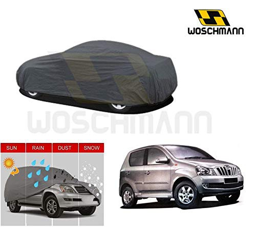 woschmann-grey-weatherproof-car-body-cover-for-outdoor-indoor-protect-from-rain-snow-uv-rays-sun-g9-with-mirror-pocket-compatible-with-mahindra-quanto