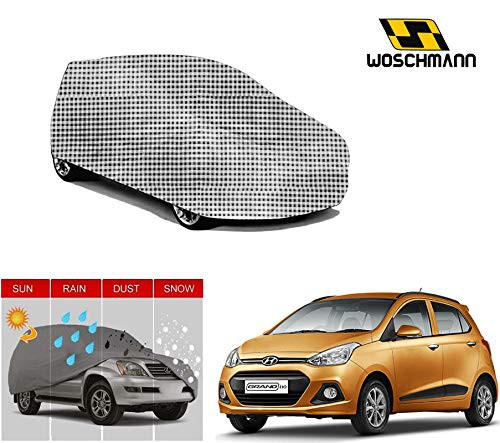 woschmann-checks-weatherproof-car-body-cover-for-outdoor-indoor-protect-from-rain-snow-uv-rays-sun-g3xl-with-mirror-pocket-compatible-with-hyundai-grand-i10