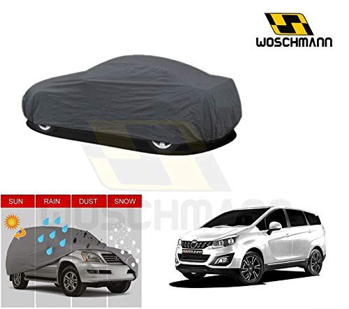 woschmann-grey-weatherproof-car-body-cover-for-outdoor-indoor-protect-from-rain-snow-uv-rays-sun-g7-with-mirror-pocket-compatible-with-mahindra-marazzo