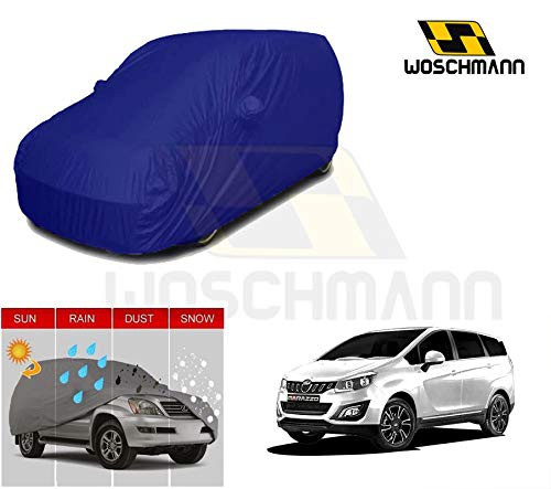 woschmann-blue-weatherproof-car-body-cover-for-outdoor-indoor-protect-from-rain-snow-uv-rays-sun-g7-with-mirror-pocket-compatible-with-mahindra-marazzo