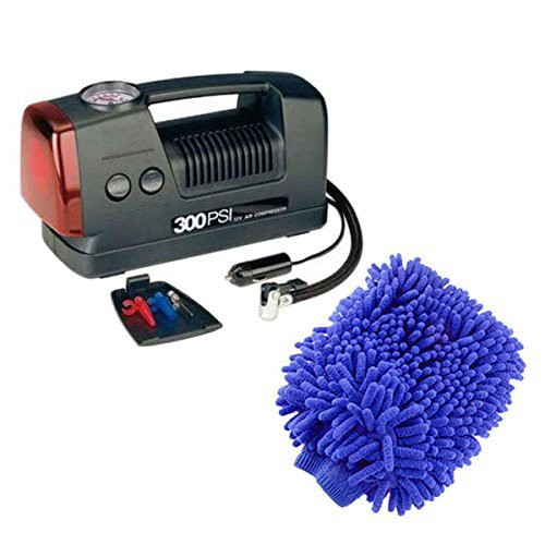 coido-combo-of-3301-12-volts-compressor-and-microfiber-gloves