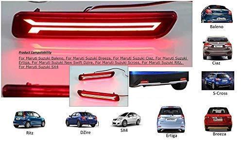 car-reflector-led-brake-light-for-bumper-drl-rearback-with-wiring-for-maruti-suzuki-ertiga-maruti-suzuki-balenobreezaciazertiganew-swift-dzirescrossritzsx4-set-of-2-piece