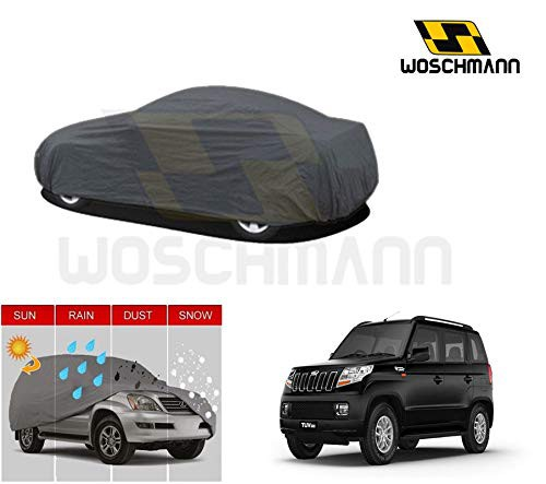 woschmann-grey-weatherproof-car-body-cover-for-outdoor-indoor-protect-from-rain-snow-uv-rays-sun-g7-with-mirror-pocket-compatible-with-mahindra-tuv300