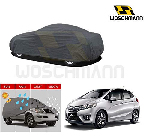 woschmann-grey-weatherproof-car-body-cover-for-outdoor-indoor-protect-from-rain-snow-uv-rays-sun-g10-with-mirror-pocket-compatible-with-honda-jazz