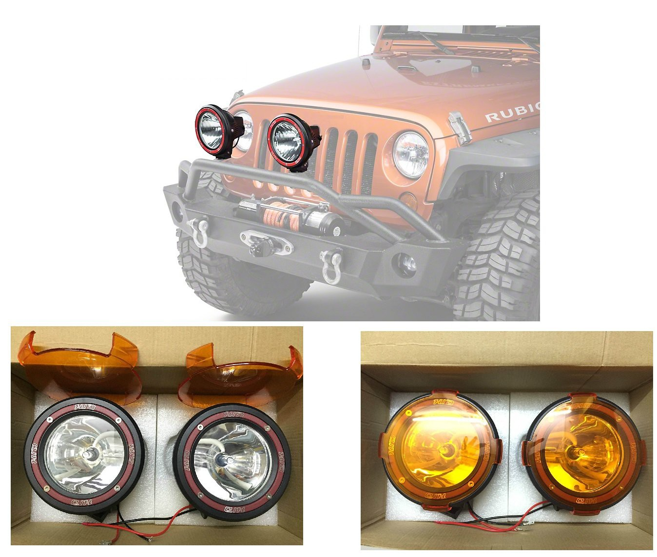 hid-xenon-fog-light-4-inch-lamp-1000-meter-work-light-all-cars-and-suv-with-yellow-cover-off-road-1km-range-set-of-2-black-compatible-with-gm-hummer-h3