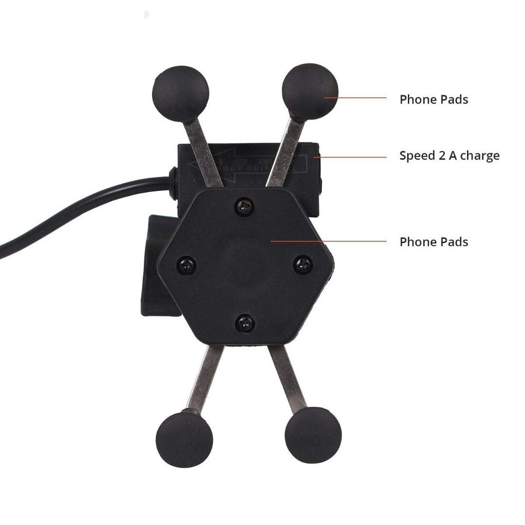 non-vibration-series-universal-spider-mobile-phone-holder-cradle-stand-with-2a-usb-charging-port-for-motorcycle-rear-view-mirror-black