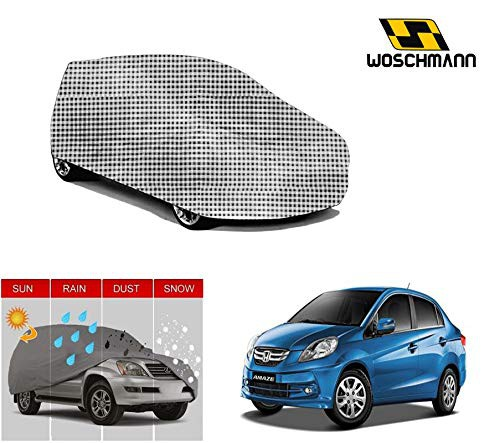 woschmann-checks-weatherproof-car-body-cover-for-outdoor-indoor-protect-from-rain-snow-uv-rays-sun-g5-with-mirror-pocket-compatible-with-honda-amaze