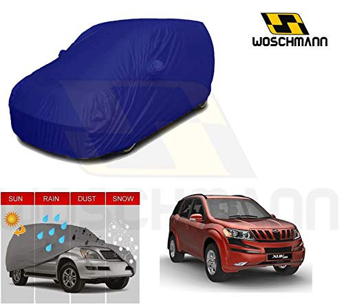woschmann-blue-weatherproof-car-body-cover-for-outdoor-indoor-protect-from-rain-snow-uv-rays-sun-g7-with-mirror-pocket-compatible-with-mahindra-xuv500