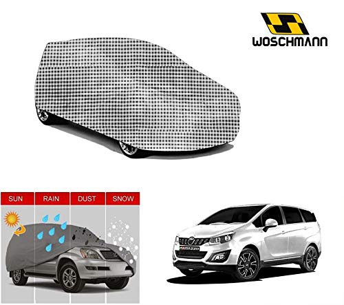 woschmann-checks-weatherproof-car-body-cover-for-outdoor-indoor-protect-from-rain-snow-uv-rays-sun-g7-with-mirror-pocket-compatible-with-mahindra-marazzo