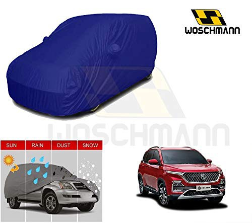 woschmann-blue-weatherproof-car-body-cover-for-outdoor-indoor-protect-from-rain-snow-uv-rays-sun-g9-with-mirror-pocket-compatible-with-mg-hector