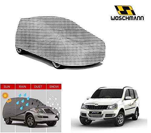 woschmann-checks-weatherproof-car-body-cover-for-outdoor-indoor-protect-from-rain-snow-uv-rays-sun-g7-with-mirror-pocket-compatible-with-mahindra-xylo