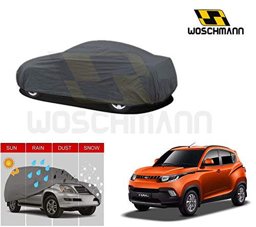 woschmann-grey-weatherproof-car-body-cover-for-outdoor-indoor-protect-from-rain-snow-uv-rays-sun-g11-with-mirror-pocket-compatible-with-mahindra-kuv100