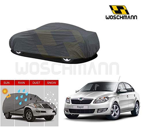 woschmann-grey-weatherproof-car-body-cover-for-outdoor-indoor-protect-from-rain-snow-uv-rays-sun-g5-with-mirror-pocket-compatible-with-skoda-rapid