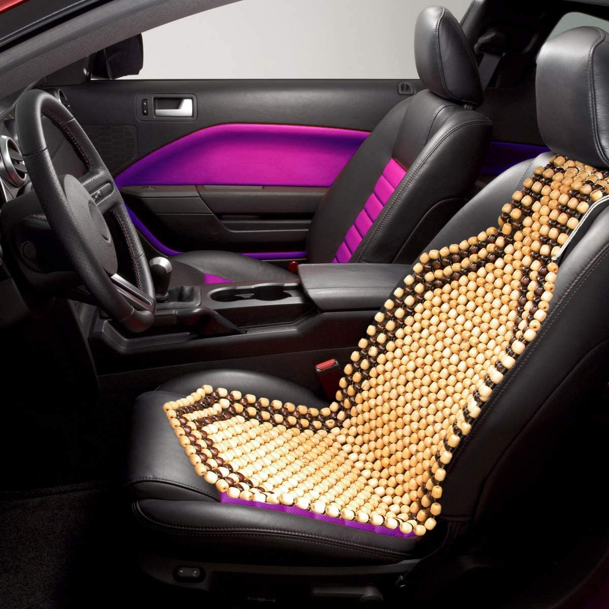 premium-quality-car-seat-cushion-with-double-strung-two-tone-wooden-beaded-ultra-comfort-massaging-set-of-2