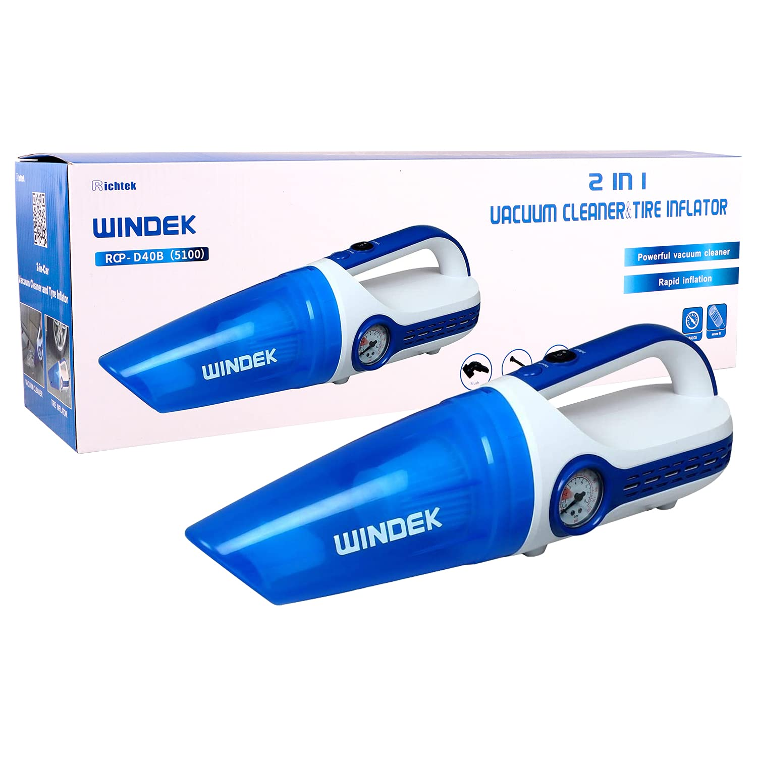 windek-5100-300-psi-heavy-duty-car-vacuum-cleaner-air-compressor-tyre-inflator-2-in-1-multi-functional-machine-compatible-with-all-bike-car-blue-white-universal