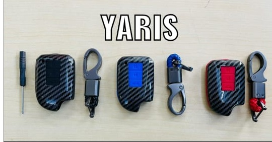 black-carbon-fiber-silicon-car-key-cover-for-toyota-yaris