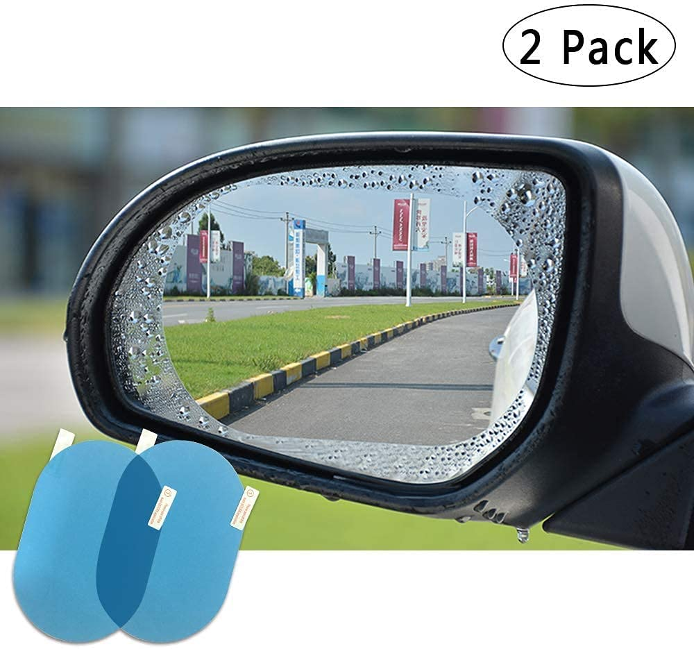 oval-universal-car-accessories-waterproof-anti-fog-film-rainproof-anti-water-film-rear-view-mirror-film-rearview-mirror-side-window-protective-for-all-automobile-and-vehicle-set-of-2