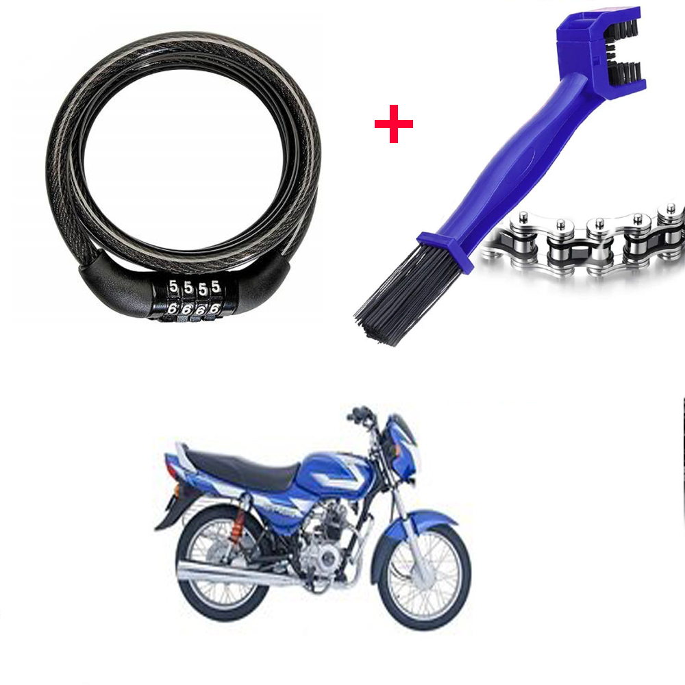 multipurpose-number-cable-lock-motorcycle-cycle-chain-cleaner-brush-combo