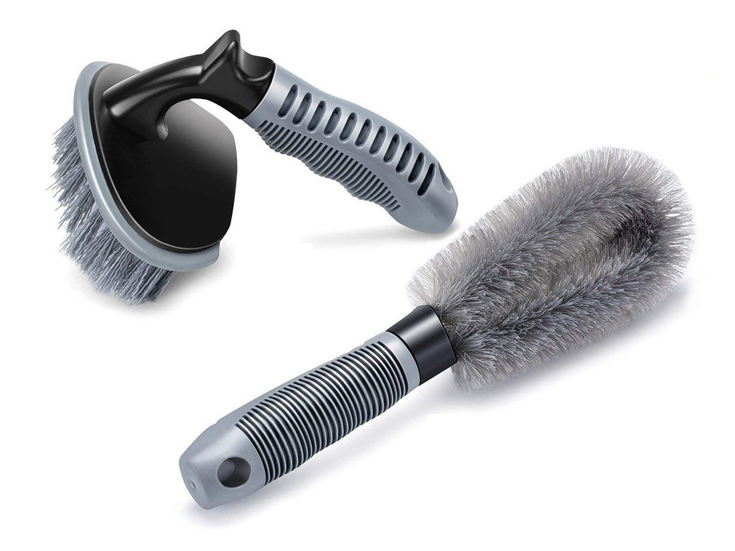 combo-of-2-pcs-brushes-tyre-cleaning-brush-for-cleaning-car-wheel-hub-and-wheel-tyre-rim-scrub-brush-hub-clean-wash-useful-brush-car-truck-motorcycle-bike-washing-cleaning-tool-set-of-2-brushes