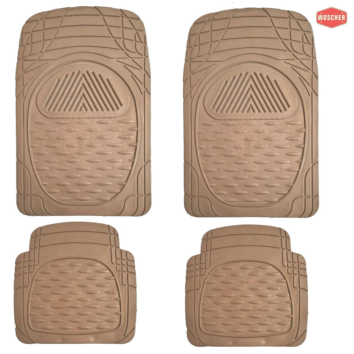 woscher-6204-flextough-all-season-odorless-rubber-floor-car-mat-for-car-suv-universal-self-cut-to-perfectly-fit-beige