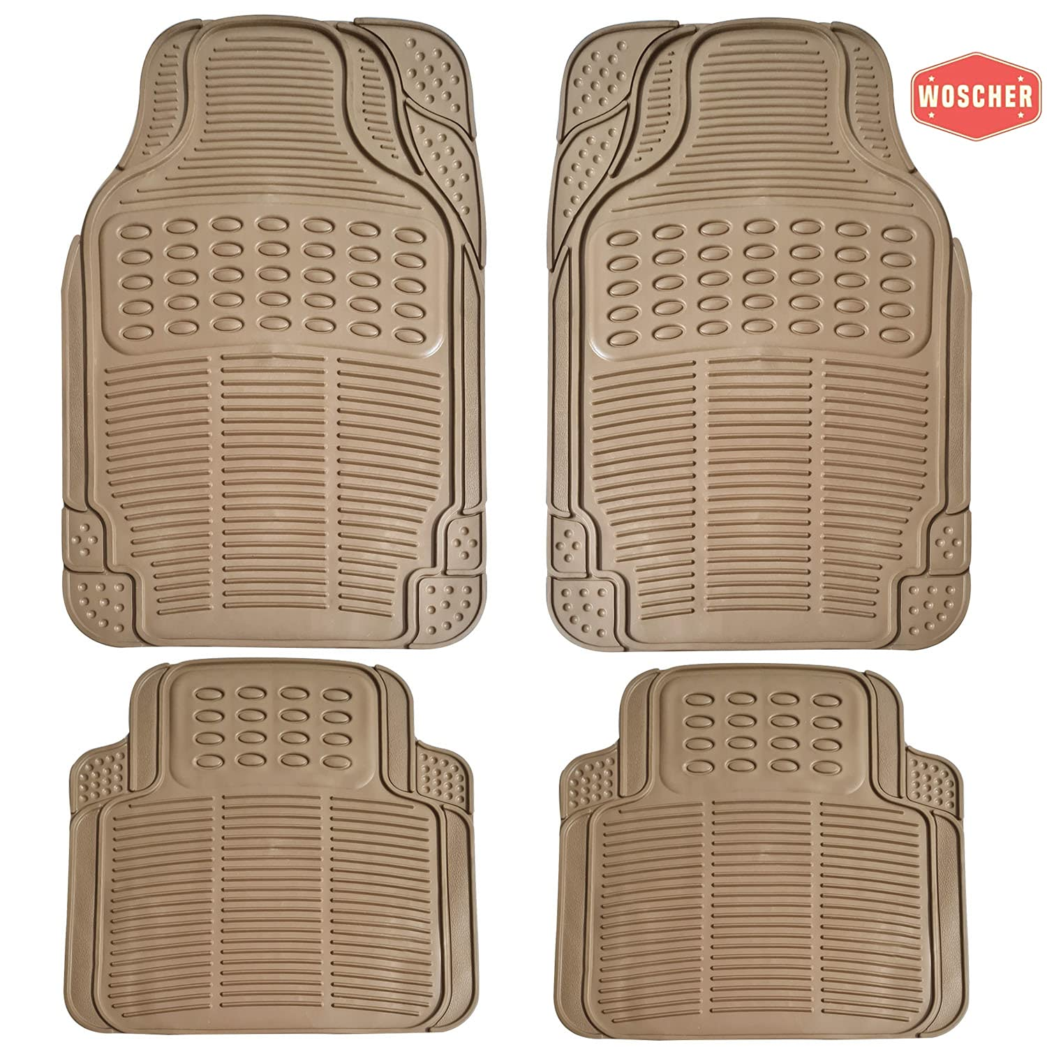 woscher-7904-felxtough-all-season-rubber-floor-car-mat-for-car-suv-universal-self-cut-to-perfectly-fit-beige