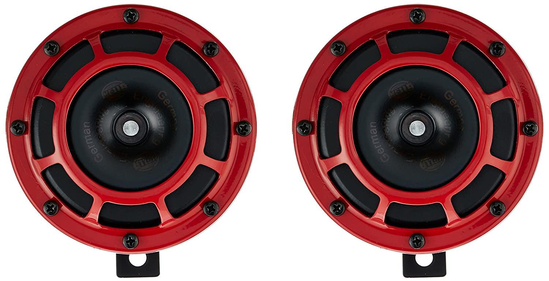 Hella 003.399-841 Red Grill Supertone Horn ( 12V,300/500 Hz,105 - 118 dB @ 2m)