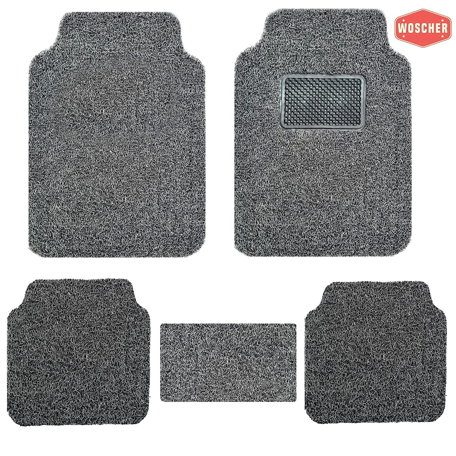 woscher-6280-anti-slip-curly-grass-car-mat-universal-for-all-cars-set-of-5-grey-black