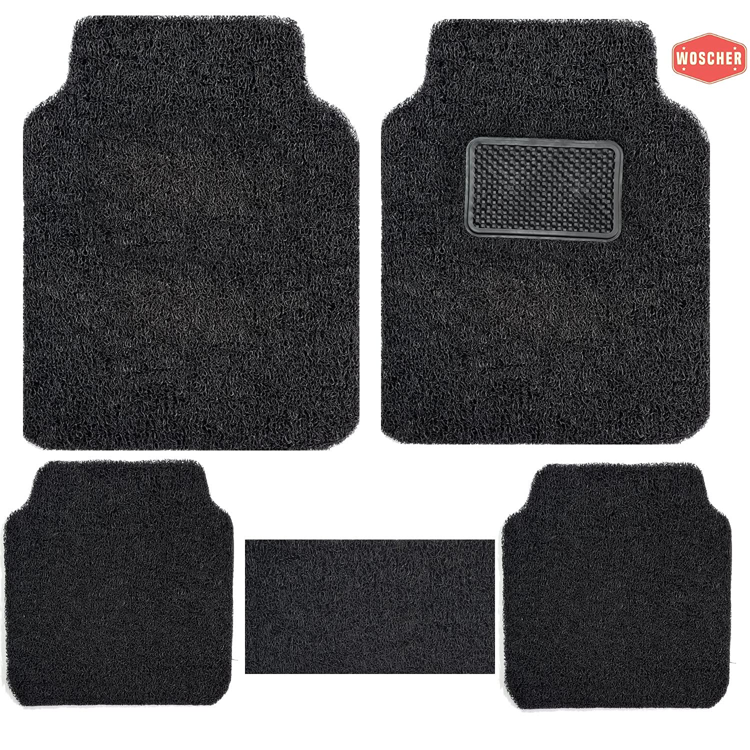 woscher-6280-anti-slip-curly-grass-car-mat-universal-for-all-cars-set-of-5-black