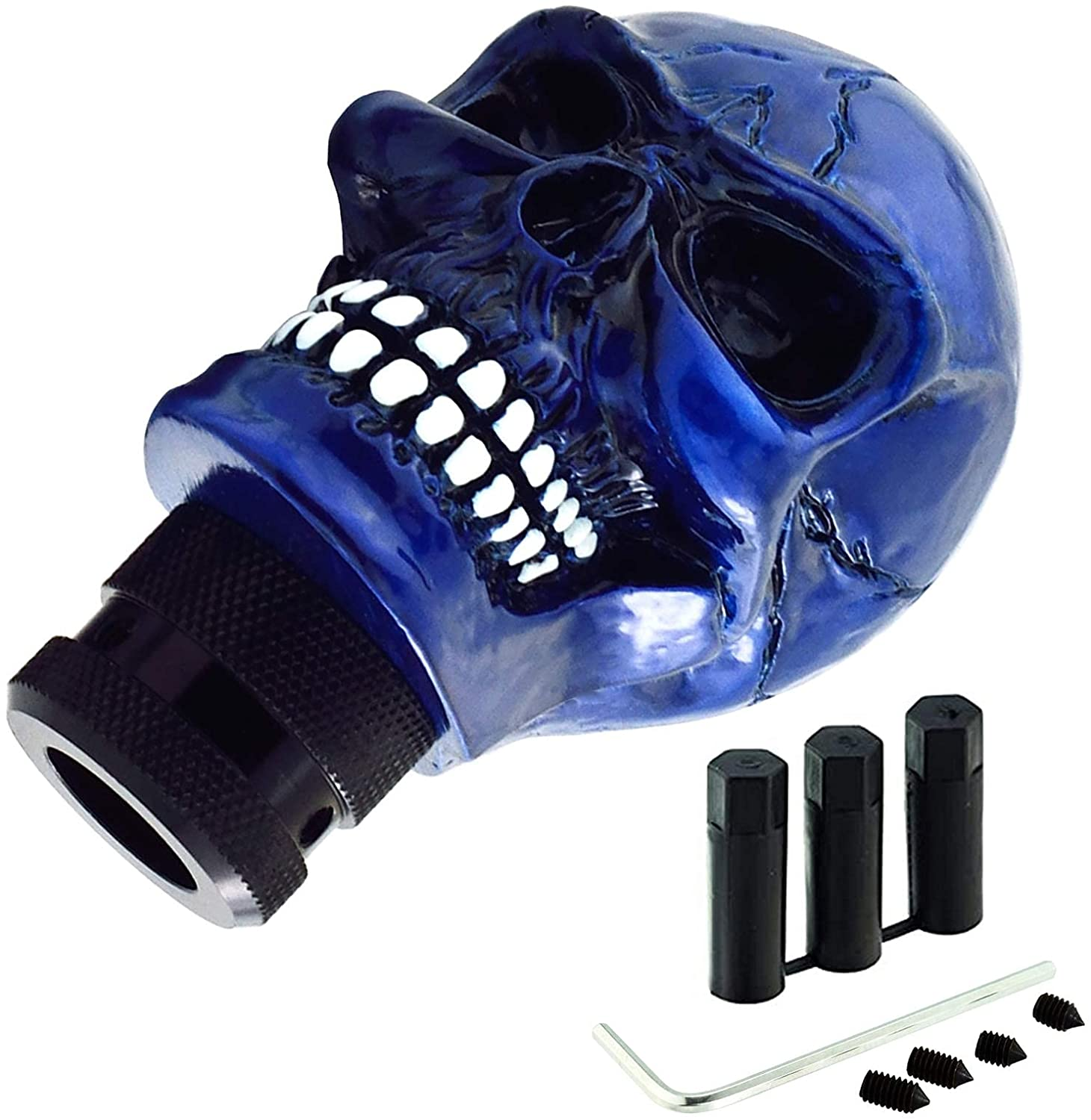 universal-skull-gear-shift-head-cool-style-stick-grip-lever-shifting-knob-for-all-cars-navy-blue