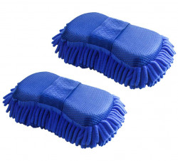 car-microfibre-microfiber-chenile-duster-2-pcs-with-sponge-grip-2-in-1-car-accessories-useful-for-cleaning-car-glass-motorcycle-bike-mirror-tile-etc